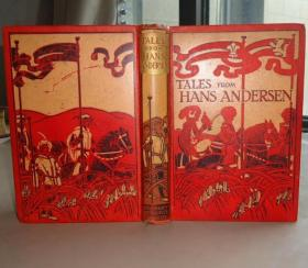 1900年HANS ANDERSEN - Tales From Hans Andersen 《安徒生童话》满金彩绘古董书 彩色插图 增补精美彩图