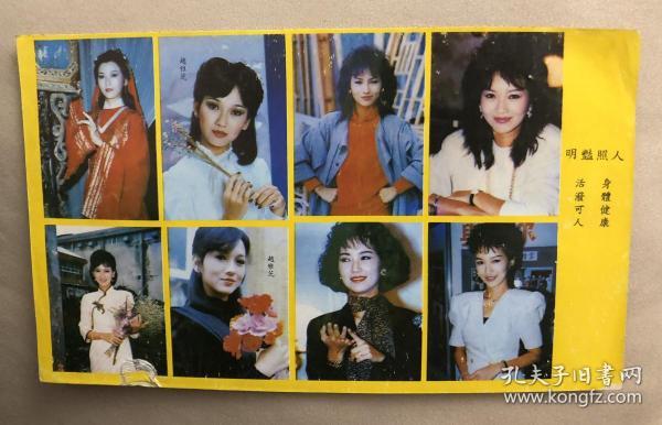 90年代 趙雅芝 老貼紙