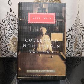 Collected nonfiction by Mark Twain (2 Volumes) 马克·吐温非虚构类作品集 (全2册合售) everyman's library 人人文库 英文原版 布面封皮琐线装订 丝带标记 无酸纸可以保存几百年不泛黄