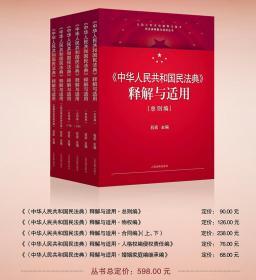 2020年版最新版 中华人民共和国民法典释解与适用丛书共5卷