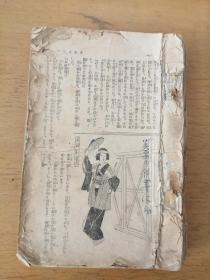 民国时期日文原版书(残本,77—544页,内容极为丰富,涉及小说、民俗、文化、社会、军事等,大量插图)