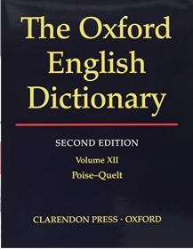 The Oxford English Dictionary  Second Edition (volume 12)