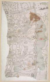 古地图1828-1831 江苏盐河图 道光(清后期,)。纸本大小68.94*112.49厘米。宣纸原色微喷印制