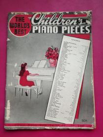 12开软装《世界儿童钢琴作品全集》全一册,上海中华基督教青年会国语礼拜圣教团1939年教学训练指导教材。