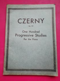 12开软装《卡尔 车尔尼钢琴曲》全一册,上海中华基督教青年会国语礼拜圣乐团1941年教学训练指导教材。