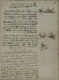 鸟类飞行手稿.Codice sul volo degli uccelli.达芬奇著.By Leonardo da Vinci.1505-1506年.都灵皇家图书馆藏,宣纸复印本,手工线装