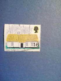 外国邮票  英国邮票 1970年 英国田园式建筑 (信销票)