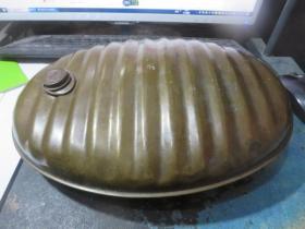 民国罗纹铜壶一只,保真保老,存于楼上博古架0*4