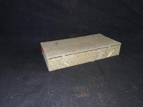 木镇尺一对--启功提诗 带盒