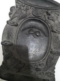 老砚台(雕刻龙  呈祥)翰墨斋 老墨盒  完整不缺,详情如图,品相自鉴  编号102-1号柜
