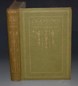 1898 年Elizabeth Gaskell -  Cranford  盖斯凯尔夫人经典名著《克兰福德》名家Paul Evelyn彩色插图初版本 珍贵早期彩印本
