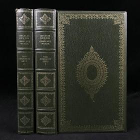 约20世纪中后期,查尔斯·狄更斯《老古玩店》(全2卷),数十幅插图,漆布精装,封面书脊烫金压花,The Old Curiosity Shop by Charles Dickens