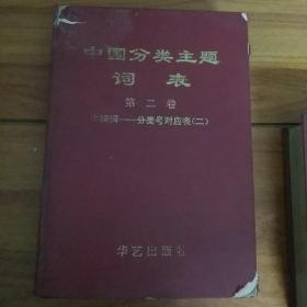 中国分类主题词表(第二卷第二册)