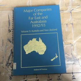 Major Companies of the Far East and Australasia 1992/93.Volume 3:Australia and New Zealand