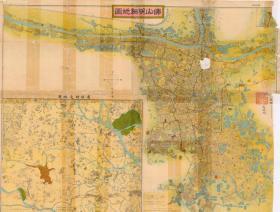 民国《佛山明细地图》(原图复制)(民国佛山市地图、佛山市老地图、佛山地图、佛山老地图)。全图开幅大,绘制十分详细,请看图片。原图左侧缺失一条,请看图片。原图由于年代久远,有些地名字迹斑驳。大部分可辨认。佛山城市变迁重要史料,佛山地理地名历史变迁珍贵研究史料。裱框后,风貌佳。