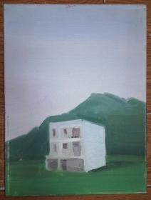 手绘布面油画:无款20190823-16(风景 40x30 已绷框)