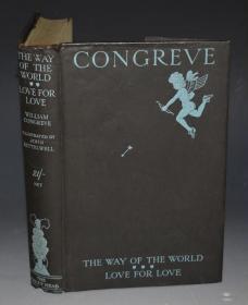 1929年 Congreve - The Way Of The World & Love For Love 经典风俗喜剧两种《如此世道与爱中爱》比亚兹莱风格绘本 John Kettelwell插图 大开本品上佳