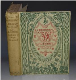 1913年J. M. BARRIE - The Admirable Crichton. 小飞侠彼得•潘创造者名剧《孤岛历险记》名家休.汤姆生(Hugh Thomson)经典彩绘本 超大开本品佳