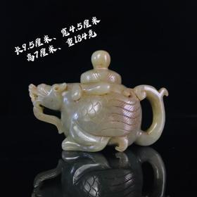 老和田玉龙龟壶,精致漂亮皮壳老辣,纹理清晰玉质莹润,雕刻精致,包浆浓厚,完整如图