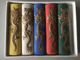 胡开文五色彩墨条 每支尺寸1.8*7.8cm 共5支合售