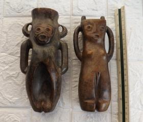 早期良渚文化玉器(神人兽面纹雕像)