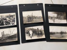 日军第二次青岛登陆老照片12张,骑马的长谷川师团长,香港丸,青岛忠魂碑等
