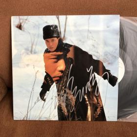 张国荣签名黑胶唱片lp雪中情非CD磁带