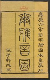 清嘉庆6年艺学轩影宋本:尔雅音图,晋郭璞撰,郭璞研究和注解《尔雅》历时18年之久,对《尔雅》所载之动物和植物进行了许多研究后编成《尔雅图》。由于他的研究和注解,使用动植物分类研究的图示法,使得此书也成为历代研究本草的重要参考书。此卷首载有南喊曾焕嘉庆六年叙。本店此处销售的为该版本的手工宣纸、四色仿真影印、手工线装本。