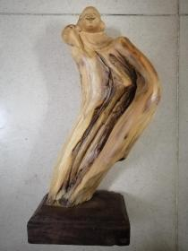 超大型太行崖柏木雕弥勒佛像摆件整个木头做成手工雕刻高29厘米