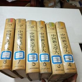中国新文学大系(1927一1937)小说集1一6集,(缺一本小说集七)馆藏,自然旧