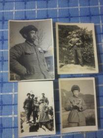 一组志愿军照片共八张(有一张是志愿军首长可能是 第47军140师418团的部队)