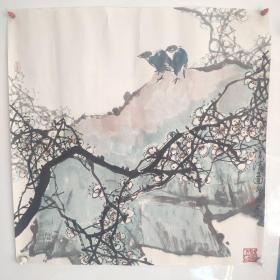 淮北国画院院长著名花鸟画家 许敬如 花鸟精品一副 保真