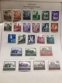 第三帝国二战德占领波兰邮票四页
