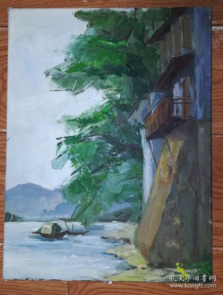 手绘布面油画:无款20190823-15(风景 40x30 已绷框)