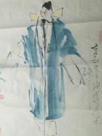 京剧人物绘画名家李会山老师国画作品,