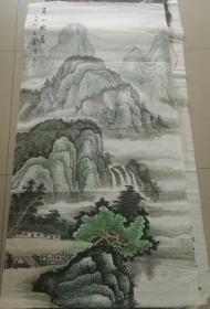 八尺条山水画