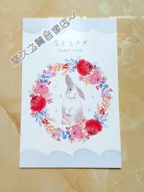 中文明信片一张 周边 卡通 风景 人物 图案随机 (1张)