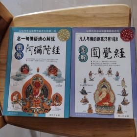 曲世宁著《图解阿弥陀经》一版一印。释心田著《图解园觉经》一版一印。二册合售。附送