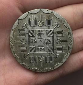 银币 光绪八年 吉林机器官局监造 厂平壹两光绪元宝银元
