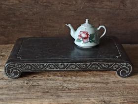 老青石茶台,雕花下卷老茶台! 精工细雕 尺寸如图 全品!