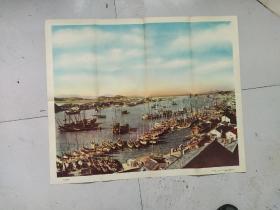 中国地理教学挂图   舟山渔港