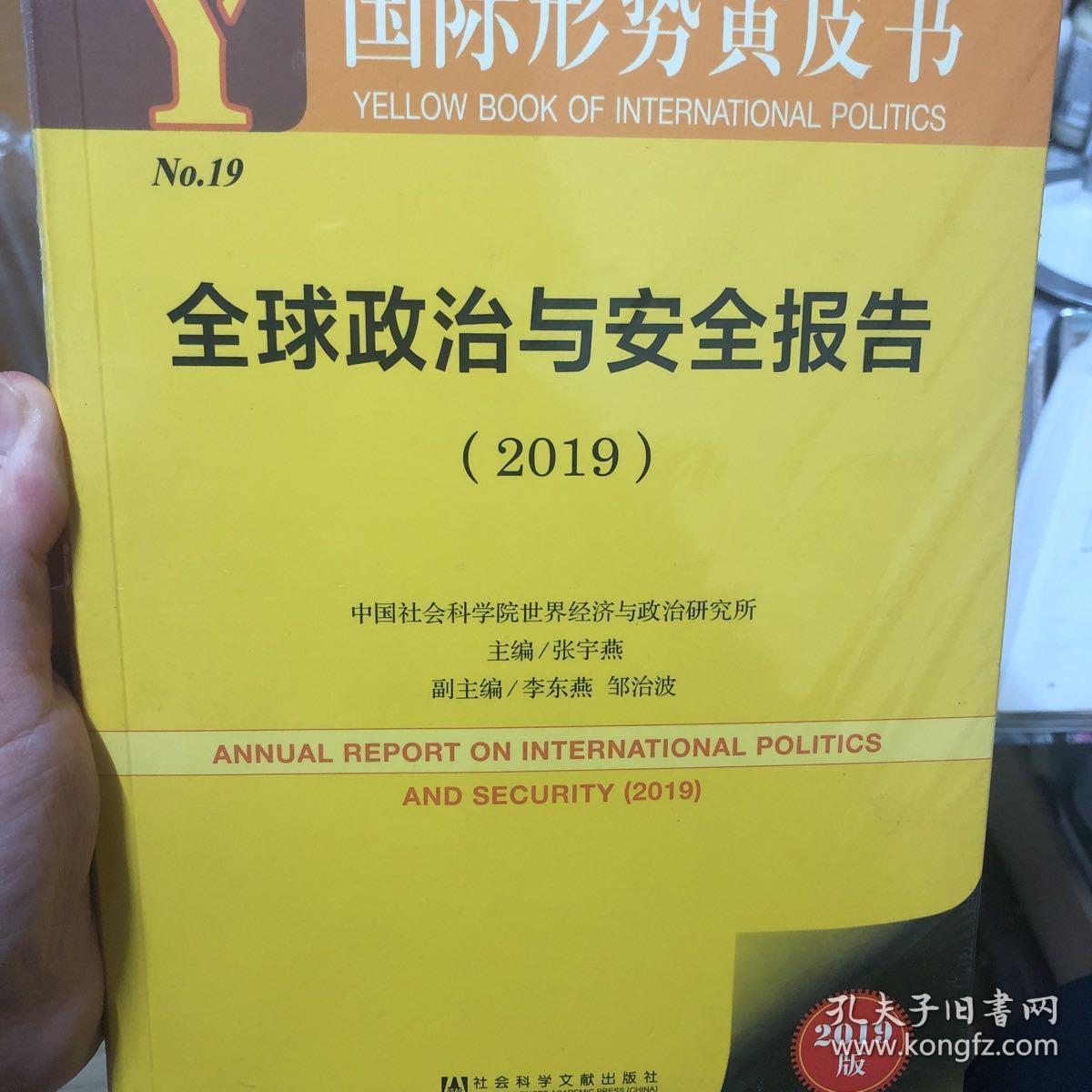 国际形势黄皮书:全球政治与安全报告(2019)