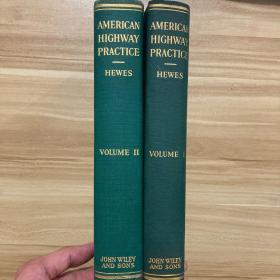 美国高速公路实践  工程1+工程2  一套两本  英文原著  布面精装  American Highway Practice  Volume1+Volume2