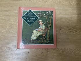 Kate Greenaway's Birthday Book,   漂亮插图,精装