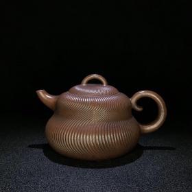 精品珍藏紫砂壶 锦纹葫芦壶