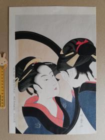 浮世繪 木版畫 手摺 喜多川歌麿 集版社 大判錦繪 限500之118