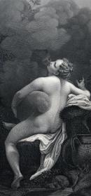 维也纳藏画集 钢版画 朱庇特与伊娥