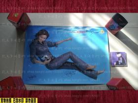 【签名绝版海报】孙燕姿 BOBOSON牛仔服饰广告海报 双签名 印刷签名+真实签名