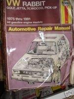 Haynes VW Rabbit, Golf, Jetta, Sirocco, Pick-Up: Automotive Repair Manual (Haynes VW Rabbit, Jetta, Scirocco & Pick-Up Owners Workshop)-哈恩斯大众兔子,高尔夫,捷达,Sirocco,皮卡:汽车维修手册(海恩斯大众兔子,日本。。。