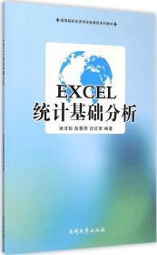 EXCEL统计基础分析/高等院校经济学实验课程系列教材